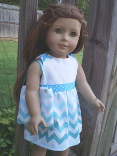 Chevron Dress 18 Doll Clothes American Girl by sassydollcreations, $10.99