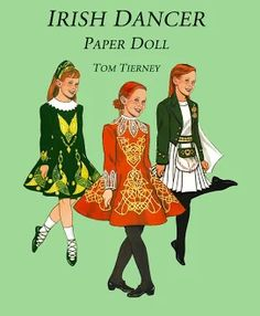 "[Deirdre] Irish Dancer Paper Doll by Tom Tierney; Dover Publication. Later incorporated into ""Little Dancers Paper Dolls""."