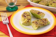Zucchine ripiene con fiocchi di avena. Su #mycookingidea http://www.mycookingidea.com/2015/07/zucchine-ripiene-con-fiocchi-di-avena/