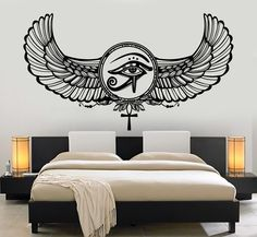 Vinyl Wall Decal Eye Of Horus Ra Egyptian God Protective Amulet Wall Stickers Home Decor Living Room Art Unique Gift Egyptian Eye Tattoos, Egyptian Drawings, Egyptian Symbols, Egyptian Art, Egyptian Mythology, Egyptian Goddess, Wall Stickers Home Decor, Vinyl Wall Decals, Floor Stickers