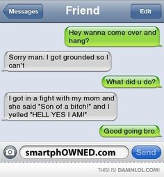 Awesome Comeback - Too Bad You've Been Grounded