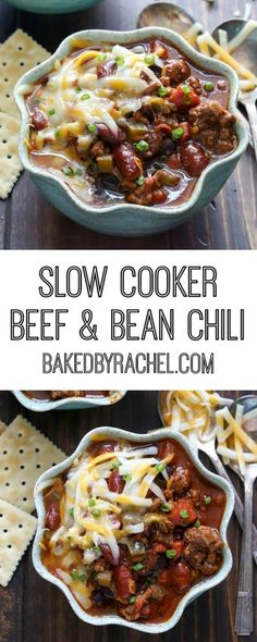 slow cooker beef and bean chili hearty slow cooker beef and bean chili ...