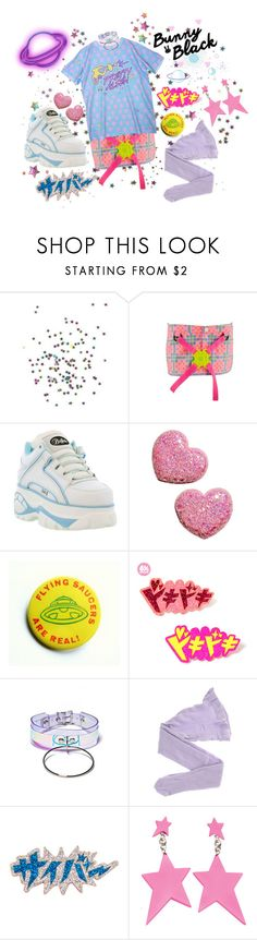 """👽Pretty Alien👽"" by tibtab ❤ liked on Polyvore featuring H&M, Apatico, Wolford, Cyberdog, cyberdog, cyberpop, popkei and bunnyandblack"