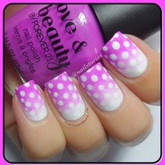 SnapWidget | Violet Pink Gradient dots #mani inspired by @chalkboardnails ! #nailsbynailstories