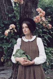 Cabbages and Roses Tweed Moon Dress