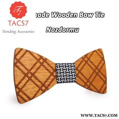 Real Solid Wood Bow Tie