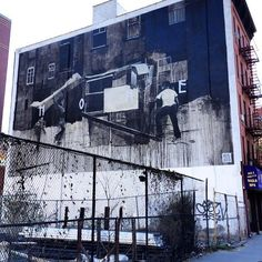 "graffgig: ""Uptown Lost Archives... @axelvoid #AxelVoid #HOME #mural #Harlem #NYC #art #graffgig #uptownnyc #streetart #streetartnyc #buildingmural #instaart #lostarchives"""