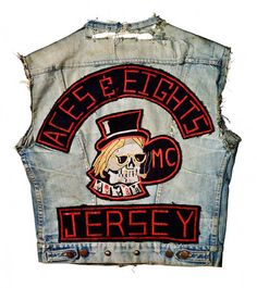 """Old School Bikers"" . through the years. ""Old School"" Motorcycle Club ""Colors"" / ""Cuts"". The ""Aces and Eights"" Motorcycle Club, based in Riverside, New Jersey, . Biker Clubs, Motorcycle Clubs, Motorcycle Jackets, Ez Rider, Aces And Eights, Harley Davidson, Bike Gang, Biker Quotes, Quotes Quotes"