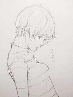 そっ…    RT @w60sakura あなたのかく女の子が好きすぎて辛い Anatomy Drawing, Manga Drawing, Figure Drawing, Manga Art, Illustration Sketches, Illustrations And Posters, Wings Sketch, Manga Tutorial, Portrait Sketches