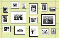 Gallery wall final layout with pictures - but maybe squeeze them in a little bit.