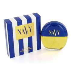 """Navy perfume (launched in '90) -- I know I wore this, just never gave it a second thought, until I saw it pinned! Made me smile. No wonder I liked it - """"Navy by Dana is a Oriental Floral. Top notes are green notes and peach; middle notes are orange blossom, jasmine, ylang-ylang and rose; base notes are amber, musk and vanilla."""""""
