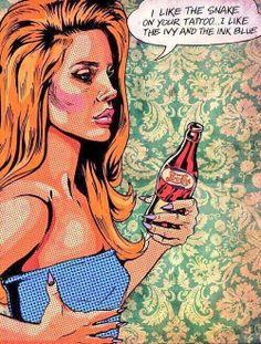 """Lana Del Rey """"Yayo"""" lyric comic"""