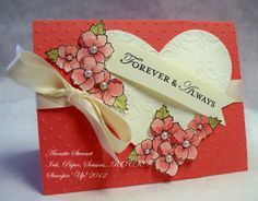 Card Crafts, Paper Crafts, Valentine Love Cards, Punch Art, Anniversary Cards, Stampin Up Cards, Invitation Cards, Handmade Cards, Making Ideas