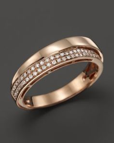 Diamond Band in 14K Rose Gold, .17 ct. t.w.   Bloomingdale's