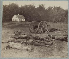 "Battle of Antietam, 1862. ""Did you know, most battlefield photos, of the civil war, were taken weeks after the battles. With actors posing as dead soldiers."