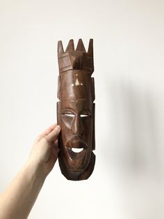 African Carving, Vintage Wooden Hand Craved Hanging, Wall Decor Wooden Hand, Uk Shop, Vintage Items, Wall Decor, Carving, African, Joinery, Wood Carvings, Sculptures