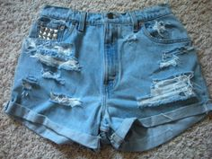 DIY High-Waisted Shorts DIY Clothes DIY Refashion
