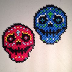 Perler bead creations, Sugar skulls