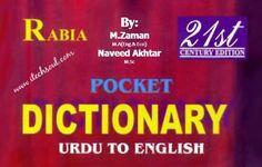 #Flip #Page #Pocket #Dictionary #Urdu To #English By Muhammad Zaman