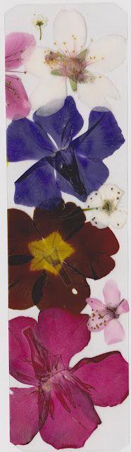 Marcadores de página (bookmarks) com flores.