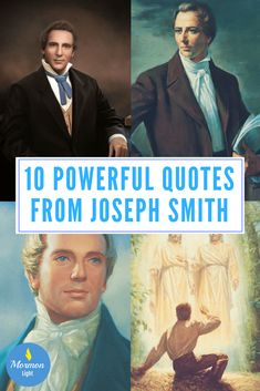10 powerful quotes from joseph smith the mormon prophet of the restoration of the lds church God and Jesus Christ Prophet Quotes, Jesus Christ Quotes, Lds Quotes, Gospel Quotes, Book Of Mormon Quotes, Jesus Art, Inspirational Quotes, Lds Talks, Journaling