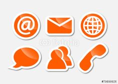 communication sticker - orange
