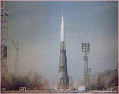 The USSR's colossal N1 Moon rocket lifts off for the first time on Feb. 21, 1969, at 12:18 Moscow Time.