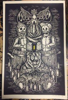 CHEERS screenprinted poster