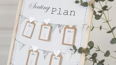 DIY : Decorative seating plan for weddings and summer parties by Søstrene Grene