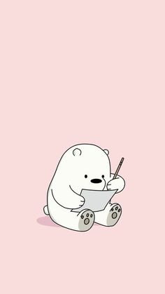 Cute HD Phone Wallpaper - - DIY Tips and Hacks by Else - Hintergrundbilder Disney Phone Wallpaper, Cute Wallpaper For Phone, Kawaii Wallpaper, Pastel Pink Wallpaper, Ice Bear We Bare Bears, We Bear, Phone Wallpapers Tumblr, Cute Cartoon Wallpapers, Wallpapers Android