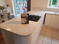 Kitchen of the week… Located in Stevenage, Herts, showcasing the Montblanc Calacutta - Rock and Co Granite Ltd Stevenage, Calacatta, Granite, Kitchens, Rock, Home Decor, Mont Blanc, Homemade Home Decor, Stone