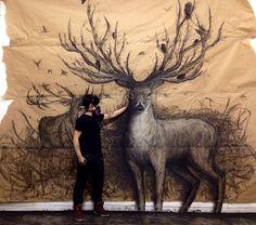 murales animales fiona tang 660x584 Los murales salvajes de Fiona Tang