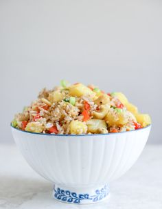 pineapple cashew fried rice + 112 different lightened up meal ideas for the new year I howsweeteats.com