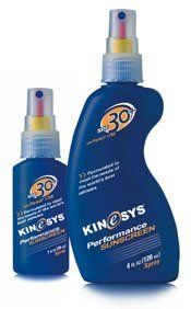 KINeSYS 00610-1 Kinesys Sunscreen Spf 30+ 4 Oz Spray by KINeSYS. $23.04. 00610-1. Sunscreen. KINeSYS. KINeSYS 00610-1 Kinesys Sunscreen Spf 30+ 4 Oz SprayKINeSYS 00610-1 Kinesys Sunscreen Spf 30+ 4 Oz Spray Features:; The perfect sunscreen for sports ; Sprays on wet and dries in two to three minutes ; PABA and alcohol-free ; Water and sweat-resistant formula lasts for two hours ; SPF 30+ 4 oz. spray (113 g)