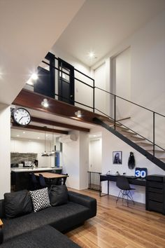 Loft Interior Design, Loft Design, Interior Modern, Log Home Plans, Barn House Plans, Barn Plans, Minimal House Design, Small House Design, Loft House