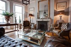 Alex MacArthur {eclectic baroque vintage modern living room} by recent settlers, via Flickr