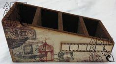 Arte & Cia - Arte & Cia: Cursos de artesanato, presentes, scrapbook, pintura em madeira: Porta-controle remoto