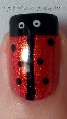 Zoya Kimmy with Orly Liquid Vinyl and Wet N Wild French White lady bug  nail art