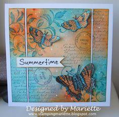 Stamping Mariëtte: Nuance summertime butterflies