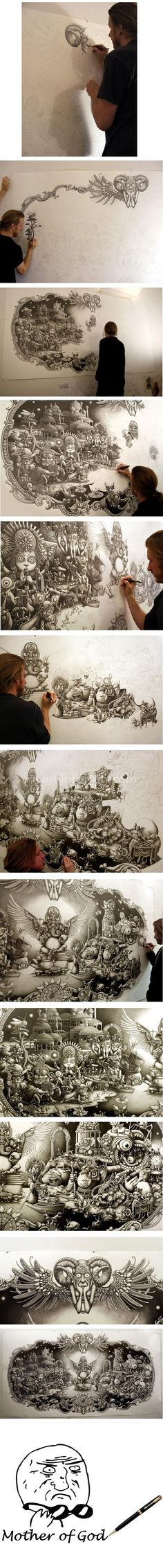 Creative sketches drawings by italian artist alfred basha for Cool detailed drawings