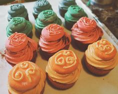 Avatar The Last Airbender/ Legend of Korra, Element Bending Cupcakes!