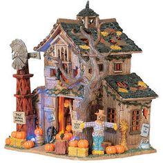 Lemax Spooky Town - Creepy Barn - Mills Fleet Farm Halloween Train, Halloween Village, Halloween House, Vintage Halloween, Fall Halloween, Halloween Crafts, Halloween Ideas, Haunted Gingerbread House, Gingerbread House Parties
