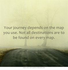 Your journey depends on the map you use. Not all destinations are to be found on every map.