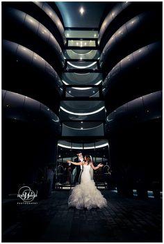 Winter wedding - Aviator Hotel, love the architecture 💕