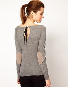 Sweater- love the tie back detail and elbow patches.