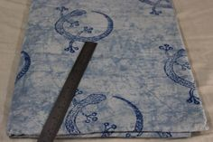 Indian Vintage Hand Block Print Indigo Blue Cotton Printed Fabric Dabu Print #Handmade