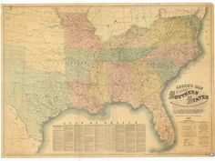 Map of the Southern States showing the Railroads by HyannisMarina
