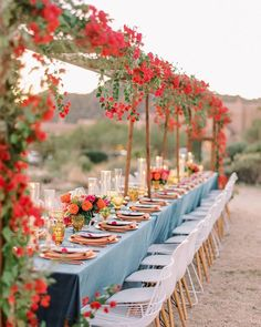 We love this beautiful outdoor Arizona wedding. With warm-colored décor and a stunning mountain backdrop, this event was truly unforgettable. View the full wedding and many more celebrations on PartySlate. Engagement Party Dresses, Engagement Party Decorations, Elope Wedding, Dream Wedding, Wedding Reception, Destination Wedding, Couples Shower Decorations, Fun Wedding Cake Toppers, Wedding Shower Banners