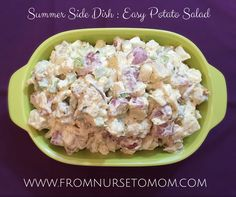 Summer is officially here! That means you are going to need a great potato salad recipe for all of the cook-outs you'll be invited to! This recipe is perfect for any covered dish gathering! A…