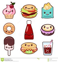 Aliments De Préparation Rapide Et Fruit De Kawaii - Télécharger parmi plus de 55 Millions des photos, d'images, des vecteurs et . Inscrivez-vous GRATUITEMENT aujourd'hui. Image: 56404655